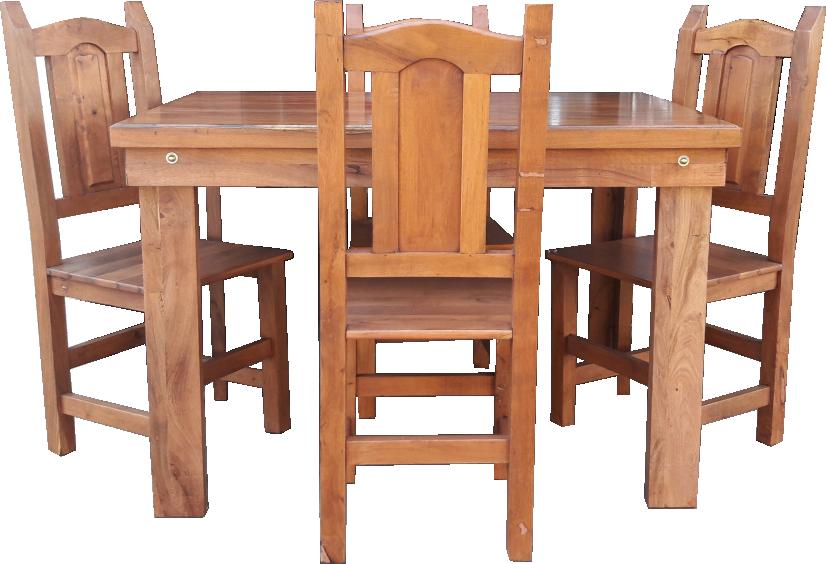 Mesa Algarrobo + 4 sillas